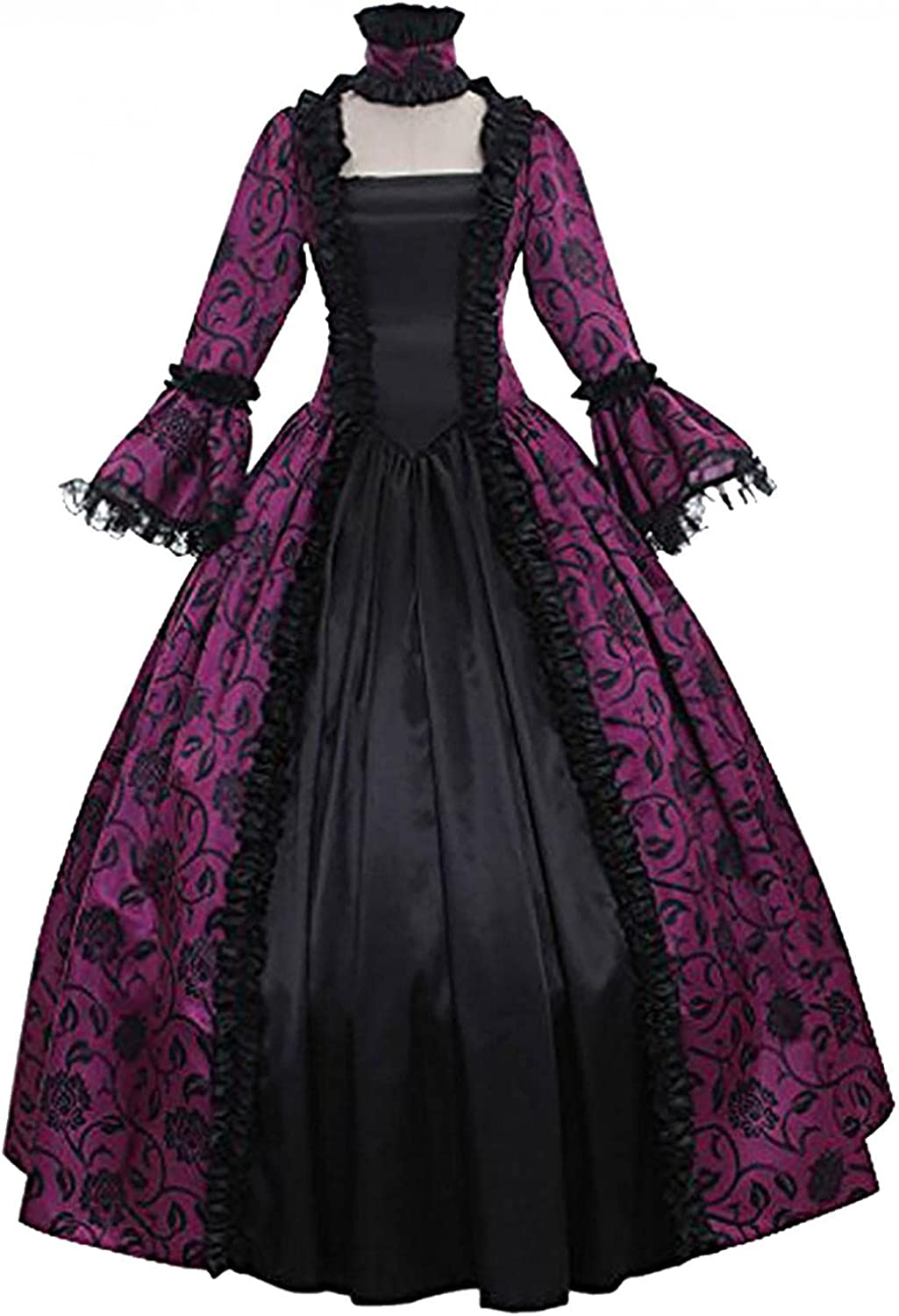 Women's Fort Worth Mall Renaissance Gothic Ball Gown Splicing Retro Floral Lace Portland Mall