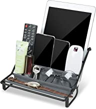 JJDPARTS Desktop Organizer Versatile Remote Control/Cellphone Holder Eyeglass Makeup Hammock Accessory Organizer For Home Office or Bedroom Dresser (Black)