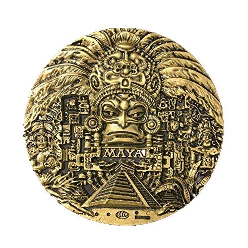 Imán de resina para nevera en 3D, diseño de civilización maya, hecho a mano, hecho a mano, para coleccionar artesanías, creativas para el hogar y la cocina