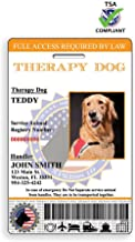 XpressID Holographic Therapy Dog ID Card (Custom)   Includes Registration to National Dog Registry