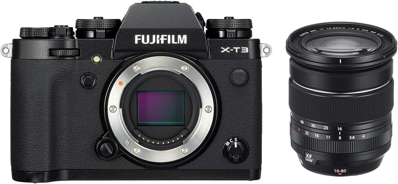 Fujifilm X-T3 Cámara Digital sin Espejo Color Negro con Fujinon XF16-80 mm F4 R W