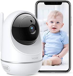 Victure Telecamera Wi-Fi Interno, 1080P Dualband 2.4Ghz & 5Ghz WiFi,Telecamera Sorveglianza WiFi, Baby Monitor con Visione...