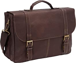 Heritage Colombian Leather Laptop Briefcase/Portafolio-Brown