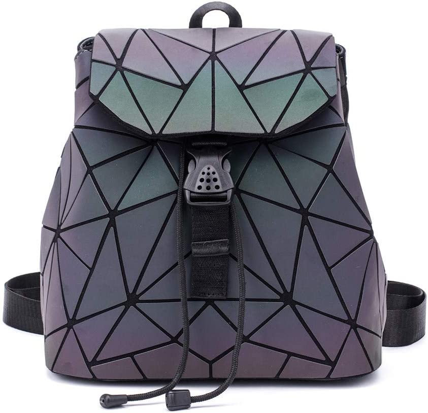 Shard Lattice Inexpensive Design Geometric Reflective Backpack Mail order B Holographic