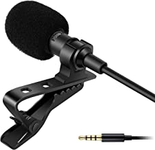 HUMBLE Dynamic Lapel Collar Mic Voice Recording Filter Microphone for Singing Youtube SmartPhones, Black