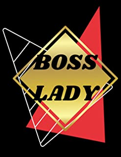 BOSS LADY GLOSSY LINED NOTEBOOK (8.5 × 11, 200 PAGES)