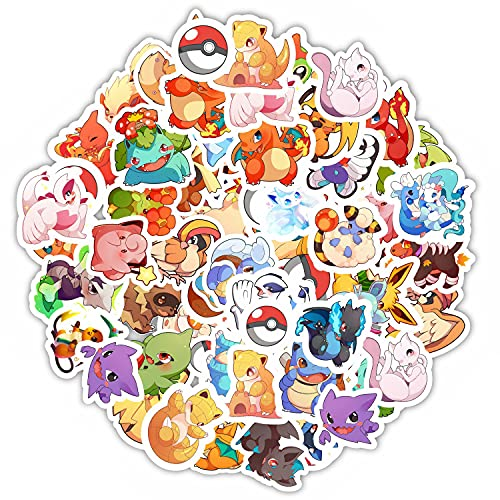 [70Pcs No Repeat] Anime stickers, Anime stickers pack, decal packs, Anime stuff, Cool Stickers, Laptop, Hard Hat, Skateboard Luggage, Water Bottle, Bikes, Waterproof Stickers for Kids, bulk decal, stickers for laptops, stickers decals vinyls