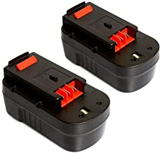 LiBatter 2 Pack 18V 3.0Ah NI-MH Replacement Battery for Black+Decker Cordless Tools HPB18 HPB18-OPE 244760-00 A1718 FS18FL FSB18 Firestorm