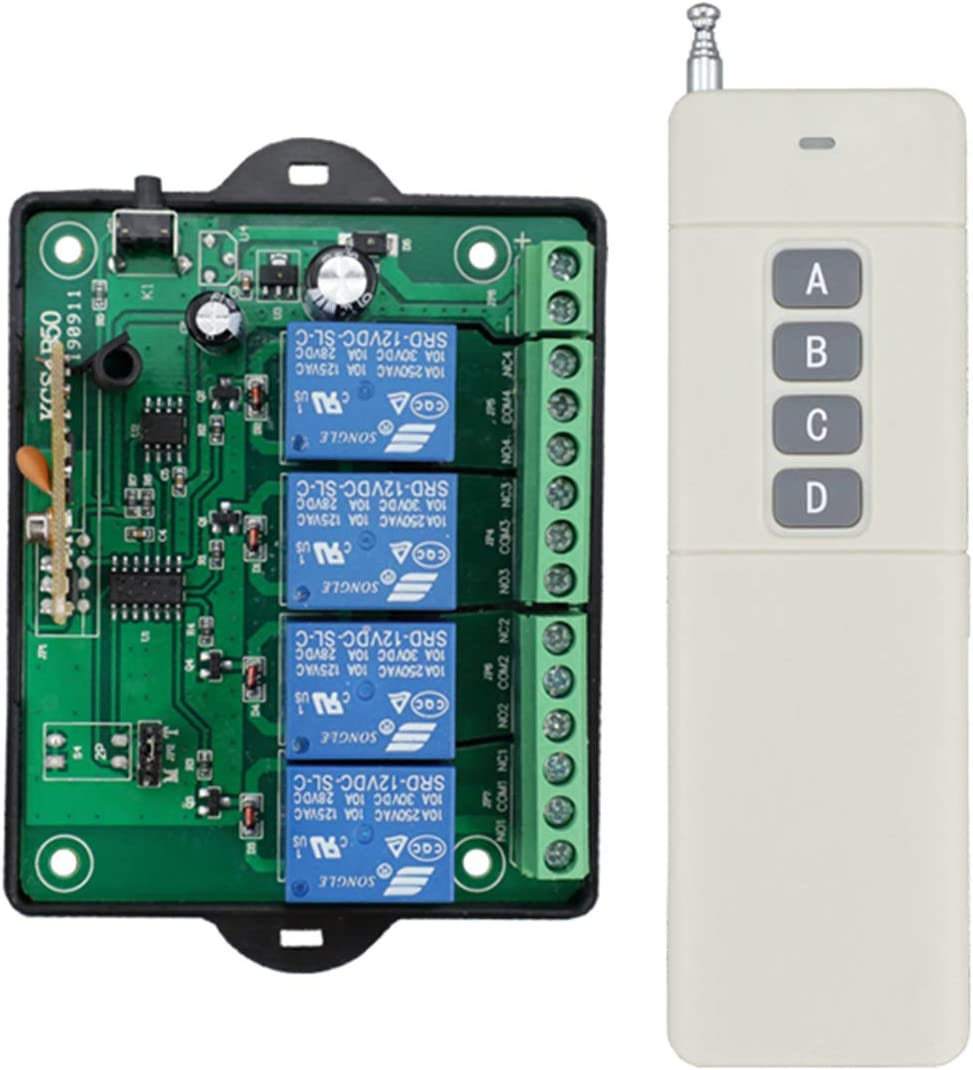 Sales dc 12v Wireless Remote 4-Channel Choice 2 Control Switch