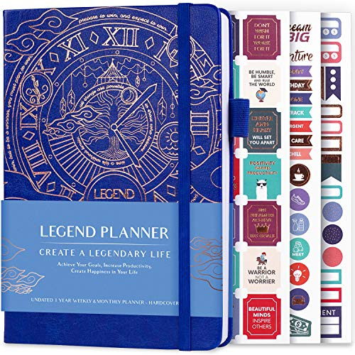 Legend Planner – Deluxe Weekly & Monthly Life Planner to...