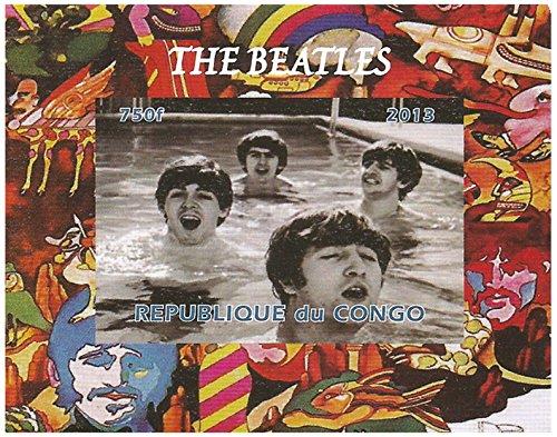 De Beatles postzegels - Imperforate - plezier in het zwembad - super toestand en fris - 2013 / Kongo / 750F