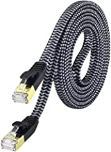 Cat 7 Ethernet Cable 10 ft, MORELECS Nylon Braided Cat 7 Internet Cable 10 ft Ethernet Cable RJ45 Network Cable Cat7 LAN Cable for PC Laptop Modem Router Cable Ethernet
