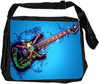 Grungy American Flag Lea Elliot TM School Messenger Bag