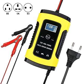 Batterie Ladegerät Auto, Autobatterie Ladegerät Batterieladegerät 6A 12V, Vollautomatisches Auto Erhaltungsladegerät mit LCD Mehrfachschutz für Autobatterie, Motorrad, Rasenmäher oder Boot.