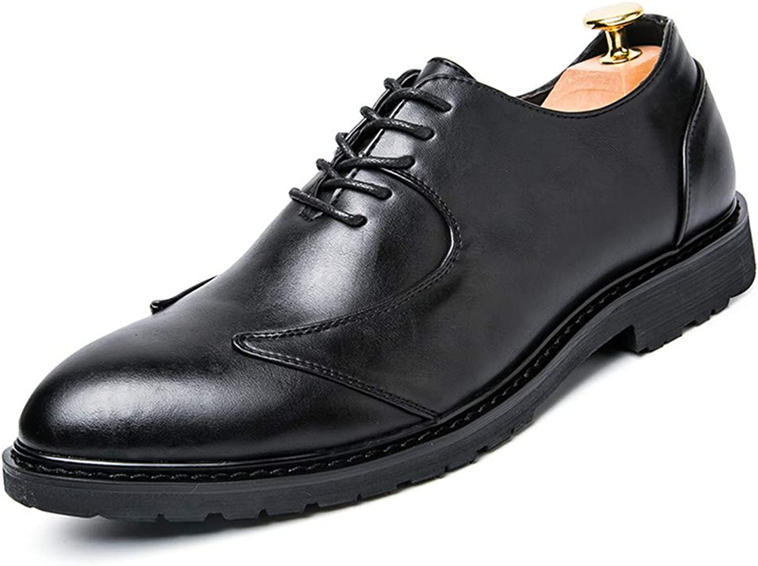 SRY-shoes Men's Classic Business Oxford Casual Soft Breathable Low Tip Retro British Style Formal shoes