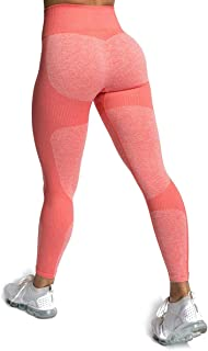 Zarjar Womens High Waisted Leggings,  Seamless Tight Workout Leggings Gym Yoga Pants Tummy Control Sports Compression