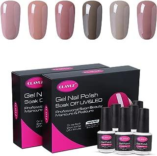 CLAVUZ Gel Polish Set 6pcs UV Led Soak Off Nail Varnish Colors Collection Salon Beauty Nail Arts Kits Long Lasting Gel Lacquers Manicure Gift Set
