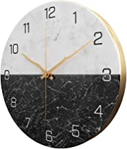 XXBR Wall Clocks for Bedrooms Large Non Ticking Silent DIY Wall Clock Decorative Radio Controlled Quartz Movement Battery Operated Clock for Living Room Kitchen Office (12 Inches)