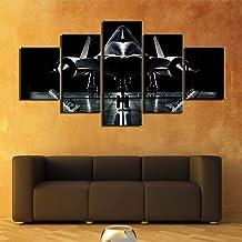 WMWSH Impresiones sobre Lienzo 5 Piezas Aviones De Combate Impresión HD Arte Poster Cuadros Decoracion Pinturas Decoración Moderna del Hogar Decoración De Pared 150x80CM
