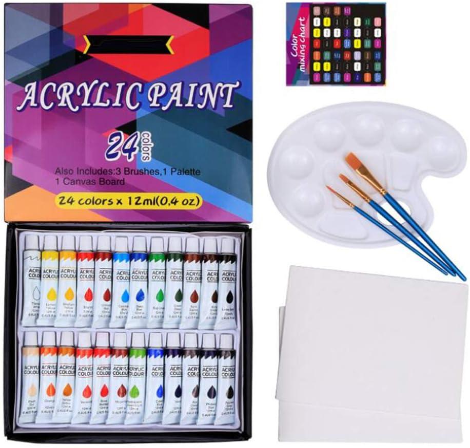 Vxkbiixxcs-o Discount mail order Acrylic Paint - 12 Color Aluminum Milliliter Max 75% OFF 24 DIY