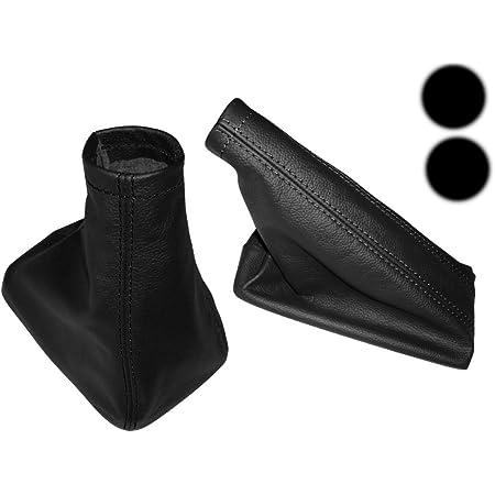 L P Car Design L P A104 1 Set Schaltsack Und Handbremsmanschette 100 Echtleder Leder Schwarz Perforiert Ersatzteil Für Corsa C Auto