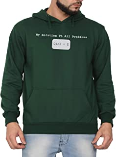 Swag Swami Unisex CottonAnswer to Problem CodingPrinted Hoodie | Hooded Sweatshirt