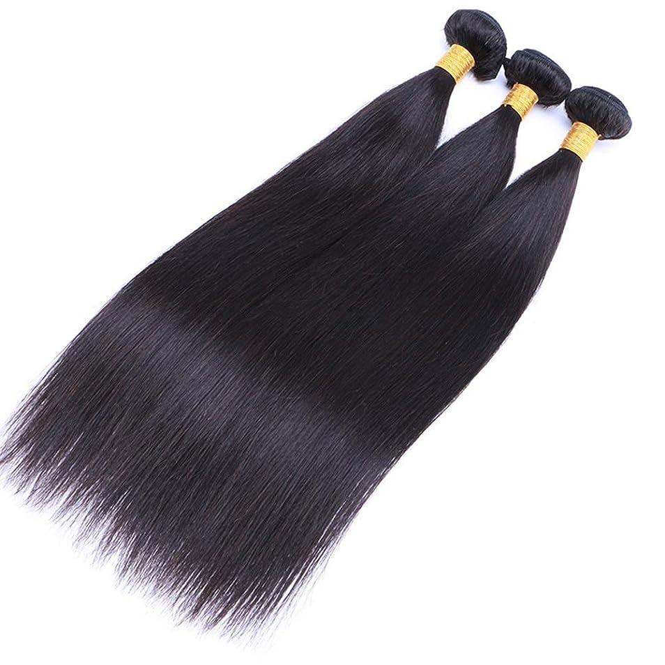 納屋不健全脚BOBIDYEE 人間の髪の毛ストレート黒ストレートウィッグ髪人間の髪の毛織り物ブラジルストレートヘアーナチュラルカラー(8