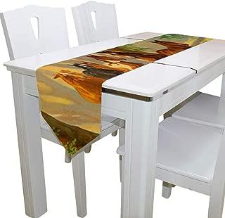 Demiawaking Chemin de Table en Coton et Lin Vintage Chemin de Table D/écoratif Couverture pour Table de Salle /à Manger D/écoration Table F/ête Mariage Onda Marina