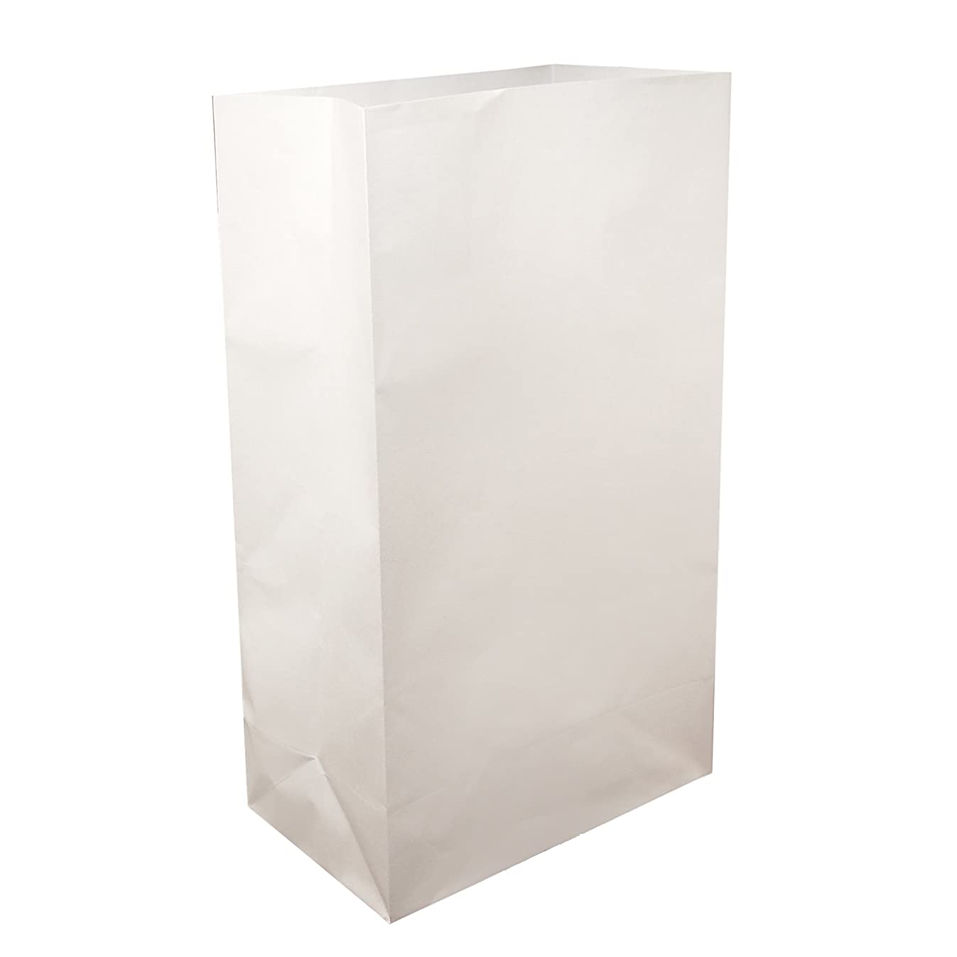 Lumabase 00410 100 Count Standard Luminaria Bags, White