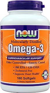 Now Foods Molec-Distilled Omega-3, 180 Sgels
