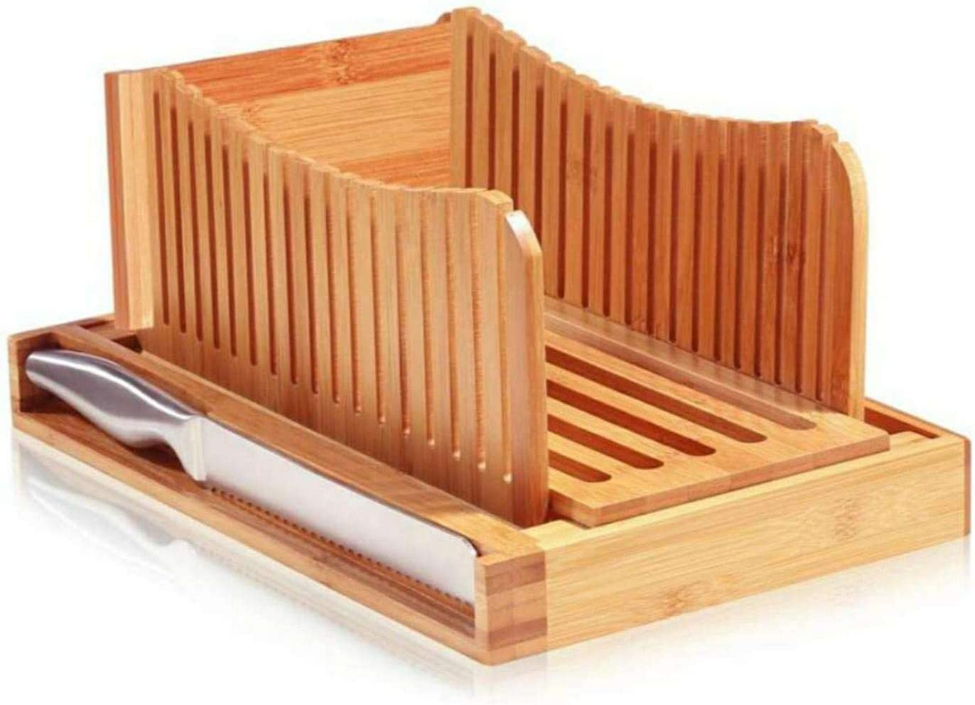 SMILOH Foldable NEW bamboo bread slicer Max 71% OFF machi cutting