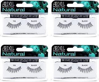 Ardell Natural Lashes False Eyelashes 116 Black (4 pack)