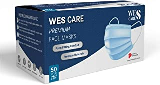[50Pcs] Wes Care 3Ply Premium Face Mask   Made in Singapore   UV Clean, Soft & Comfortable, Easy to Breathe   Ships from A...