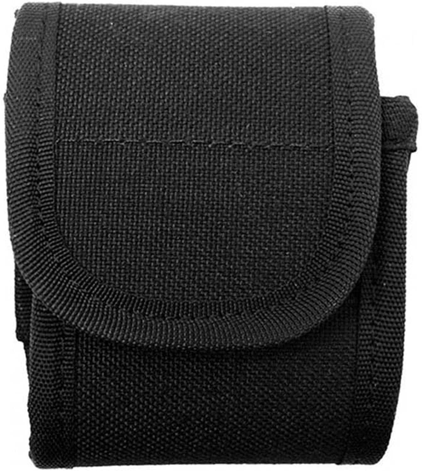 Uncle Mike's Mirage Basketweave Snap Close Duty Pager Case (Medium, Black)