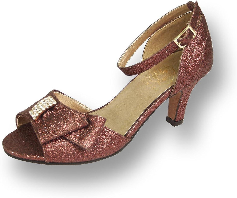 Floral FIC Elisa Women Wide Width Evening Dress shoes for Wedding, Prom, Dinner (Size & Measurement Guide)