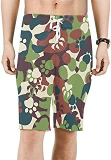 Feewearior Mens Beach Shorts Camouflage Army Swimming Trunks Drawstring Pants Adjustable