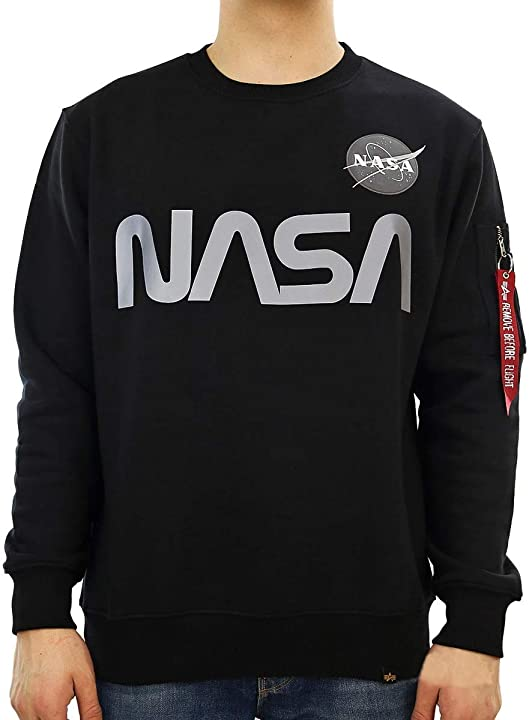 Felpa nasa - alpha industries felpa uomo 376_1828