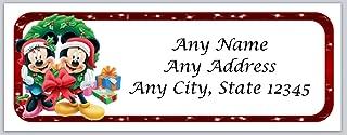 150 Personalized Return Address Labels Christmas Mickey Minnie (ac 4)