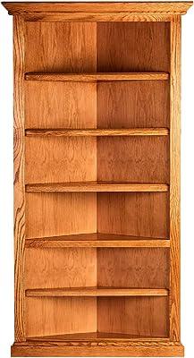 Amazon Com Midas Six Shelf Bookcase 84 H Dry Oak Finish