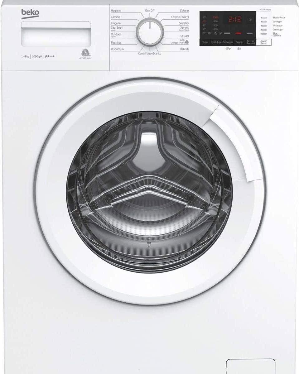Beko WTXS61032W/IT lavatrice Libera installazione Caricamento frontale Bianco 6