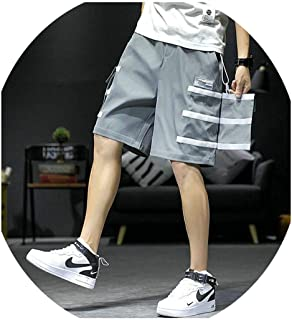 2019 Patchwork Multi Pockets Cargo Baggy Shorts Men Hip Hop Casual Streetwear Short Pants Summer New Black Male Trousers