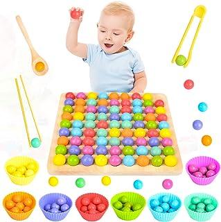 MMTX Jouet Montessori en Bois Éducatif, Wooden Go Games Set, Puzzle Board Game, Mains Brain Training Mathematics Jeu Jouet...