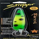 Advance Tackle Michigan Stinger Magnum Spoon, Green/Yellow