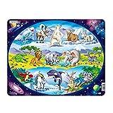 Larsen Puzzle NM6 - Puzzle, diseño de Animales de Todo el Mundo