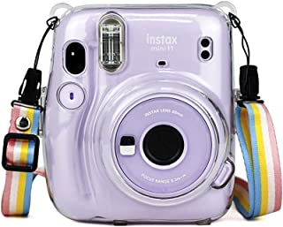O Ozone Transparent Hard Camera Case for Fujifilm Instax Mini 11 Instant Camera Cover with Adjustable Strap [ Case Designe...
