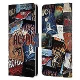 Head Hülle Designs Offizielle AC/DC ACDC Albumgrafik Collage Leder Brieftaschen Handyhülle Hülle Huelle kompatibel mit Huawei Honor Play 8A