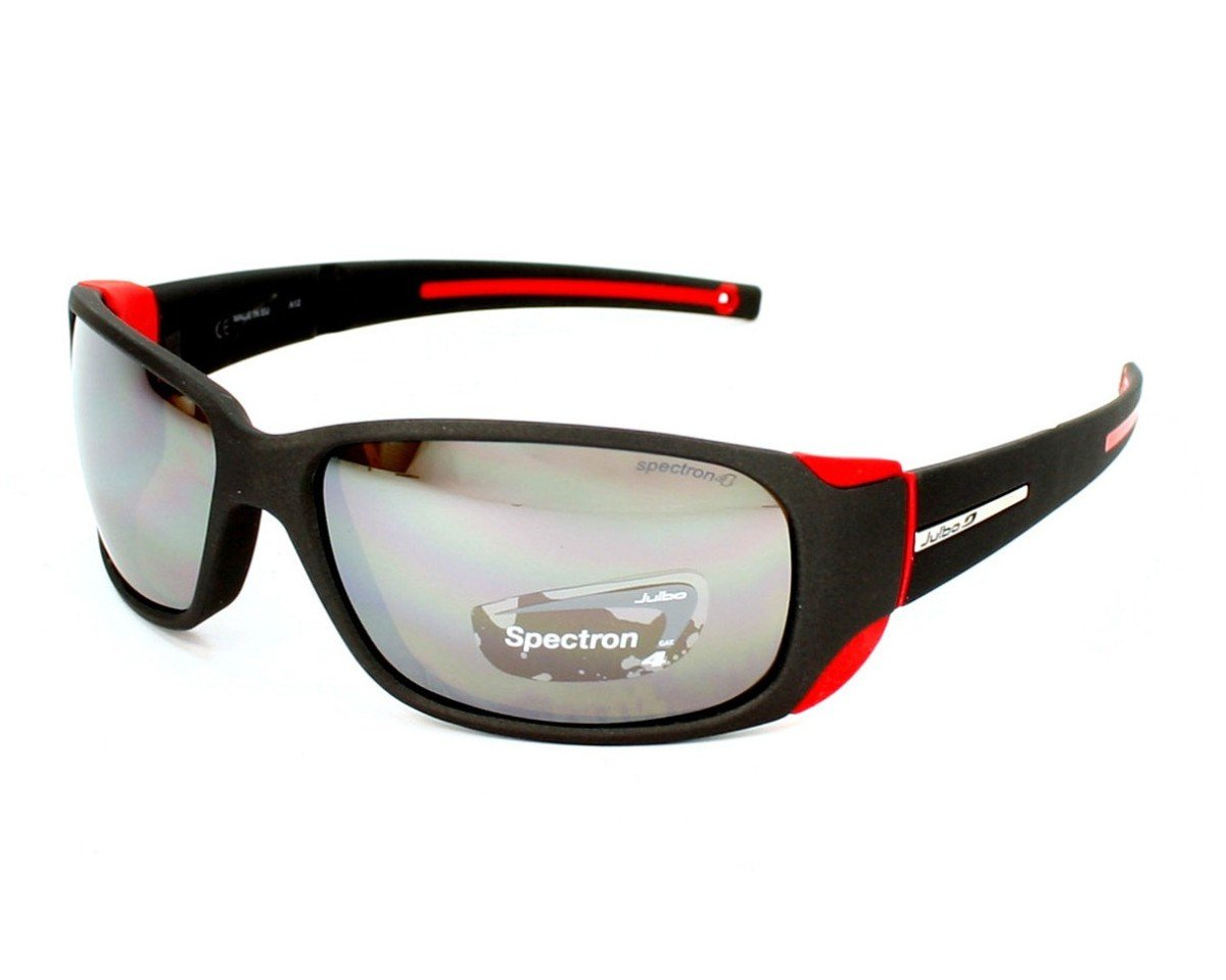 Julbo Sunglasses J 415 MonteBianco Outdoor 1222 Acetate Plastic Black - Red Brow