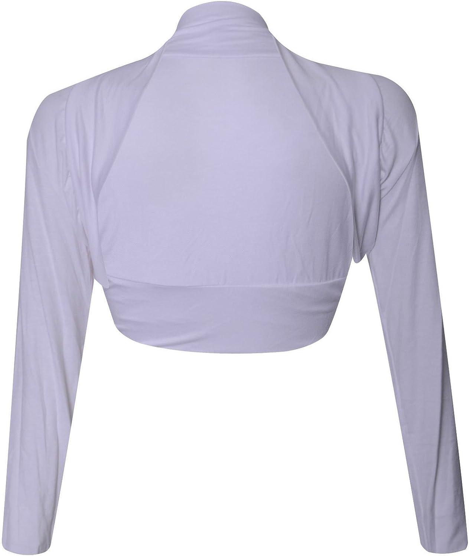 Womens Long Sleeve Bolero Shrug Ladies Cardigan TOP