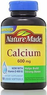 Nature Made Calcium 600 mg With Vitamin D Liquid Softgels 100 ea (Pack of 2)