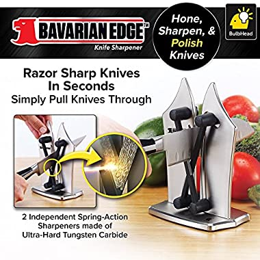 BulbHead 12352 Bavarian Edge Kitchen Knife Sharpener in Silver 1 Pack